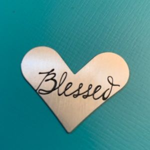 """Origami Owl Jewelry - Heart Shape """"Blessed"""" plate"""